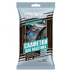 Салфетки для авто влажные 25шт для пластика PLASTIC CLAENING WIPES Hi-Gear HG5602